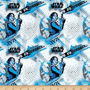 Rogue One: A Star Wars Story Jyn Erso Blue 100% Cotton Fabric