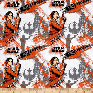 Rogue One: A Star Wars Story Jyn Erso Orange 100% Cotton Fabric
