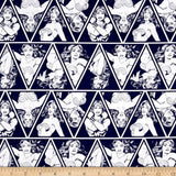 DC Comics Wonder Woman Triangles Navy 100% Cotton Fabric