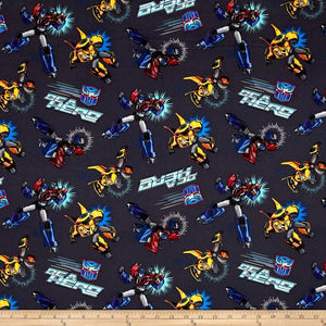 Hasbro Transformers Robots Autobots Be A Hero 100% Cotton Fabric