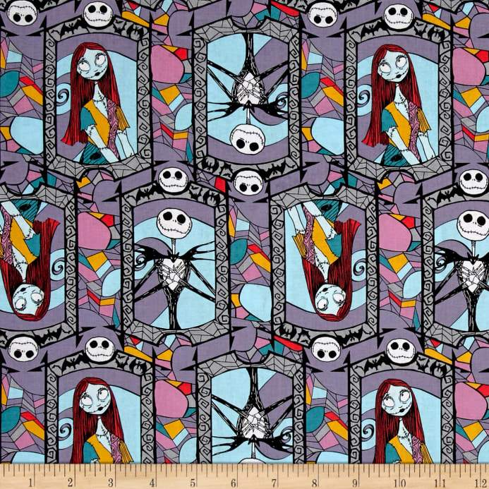 disney nightmare before christmas sally and jack 100 cotton fabric ifabric