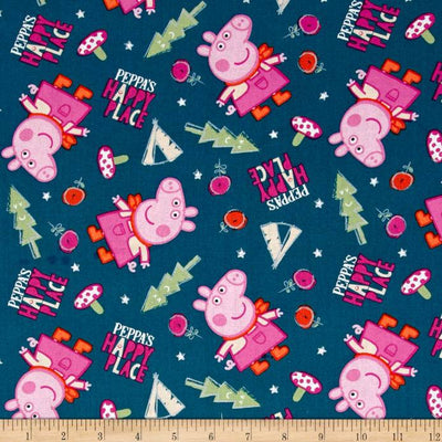 Peppa Pig Peppa's Happy Place 100% Cotton Fabric