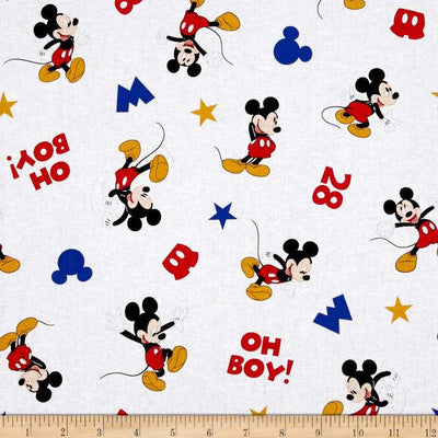 Disney Mickey Traditional Oh Boy 100% Cotton Fabric
