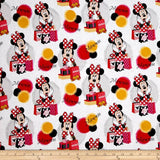 Disney Minnie Traditional Minnie Shops White 100% Cotton Fabric