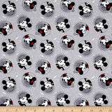 Disney Mickey And Minnie Fashions Gray 100% Cotton Fabric