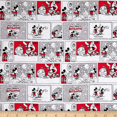 Disney Mickey And Minnie Love Affair 100% Cotton Fabric