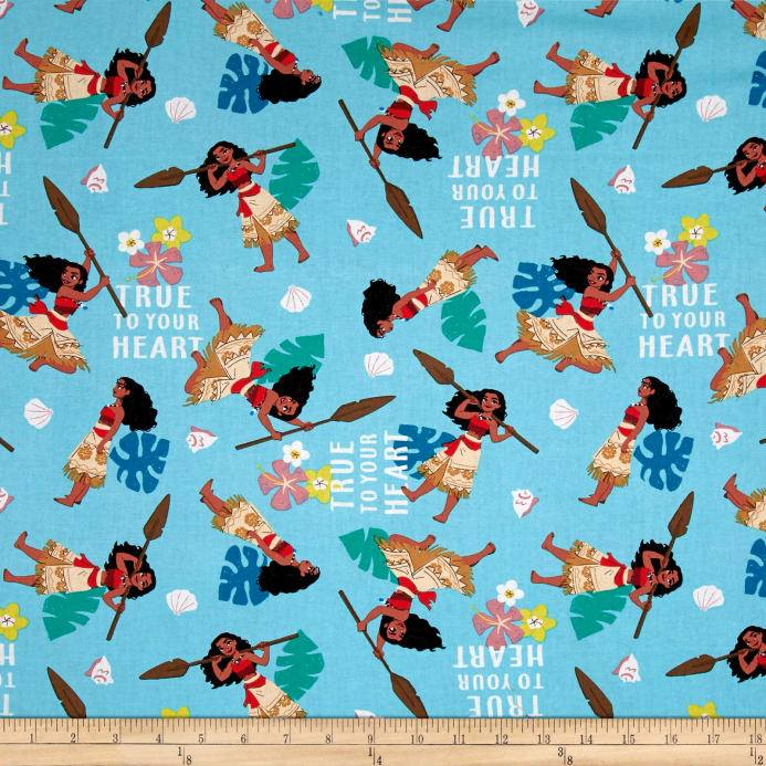 Disney Moana True To Your Heart 100% Cotton Fabric