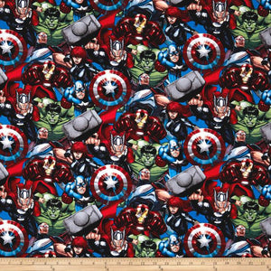 Marvel Avengers Packed Avengers 100% Cotton Fabric