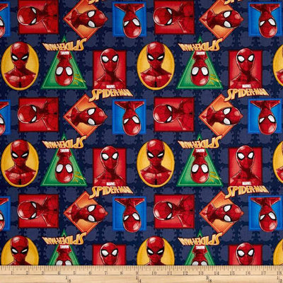 Marvel Spiderman Spider-Man Badge 100% Cotton Fabric