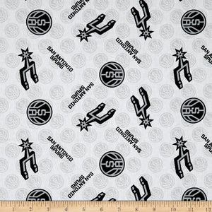 NBA San Antonio Spurs 100% Cotton Print Fabric
