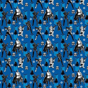 Star Wars Blue 100% Cotton Fabric