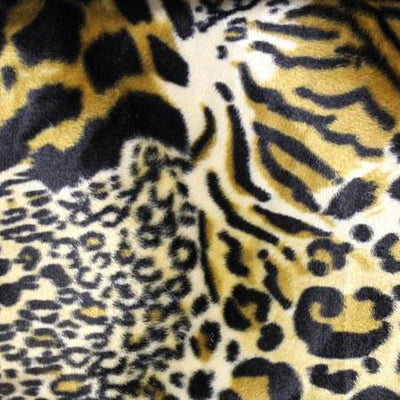 Velboa Fur Mixed Animal Short Pile Fabric