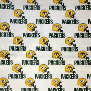 Green Bay Packers White 100% Cotton Print Fabric