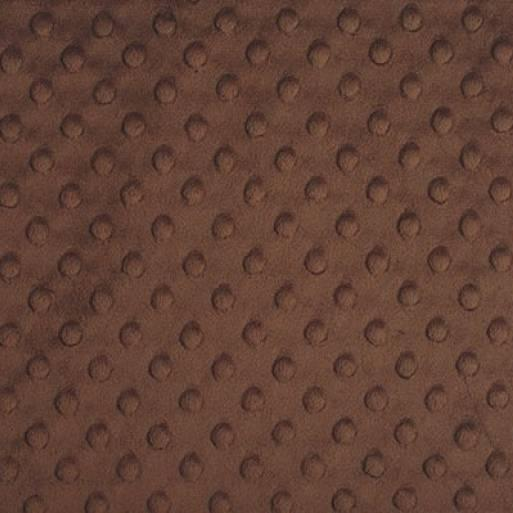 Brown Minky Dimple Dot Fabric