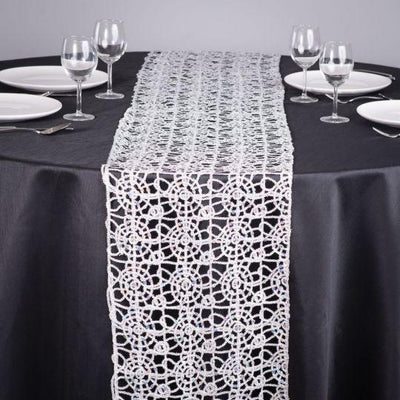 Silver Chemical lace Table Runners