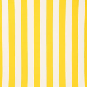 "Yellow White Stripe 1"" inch Satin Fabric"