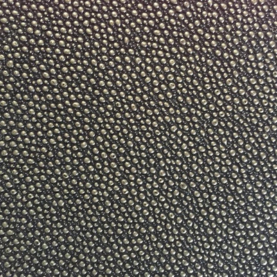 Black Gold Grain Reptile Embossed Vinyl Fabric / 40 Yards Roll