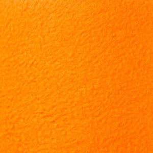 Neon Orange Anti Pill Solid Fleece Fabric
