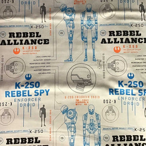 Rogue One: A Star Wars Story blue 100% Cotton Fabric