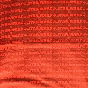 Star Wars logo on Orange 100% Cotton Fabric