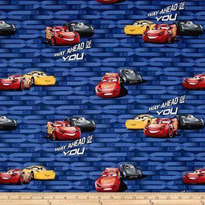 Disney Cars 3 McQueen & Cruz 100% Cotton Fabric