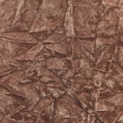 Rust Flocking Crushed Velvet Fabric / 50 Yards Roll