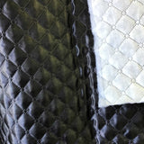 Black Quilted Polyester Batting Fabric
