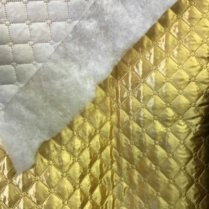 Polyester Quilted Padded Lining Gold Fabric