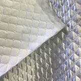 Polyester Quilted Padded Lining white Fabric