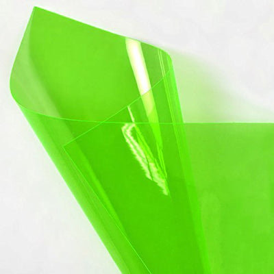 Green 12 Gauge Tinted Plastic Vinyl Fabric