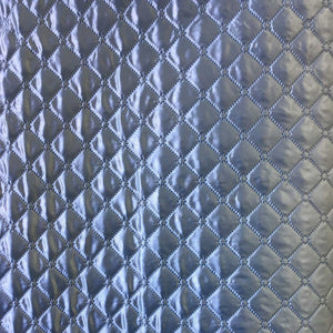 Polyester Quilted Padded Lining Light Blue Fabric