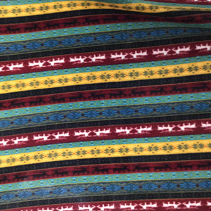 Indian Native American African 3 Print Anti Pill Fleece Fabric