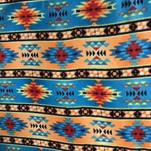 Indian Native American African 7 Print Anti Pill Fleece Fabric