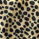 Taupe Velboa Fur Dalmatian Dog Animal Short Pile Fabric