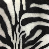Zebra White Big Stripe Velboa Fur Zebra Animal Short Pile Fabric