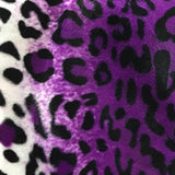 Leopard Purple Velboa Fur Leopard Animal Short Pile Fabric