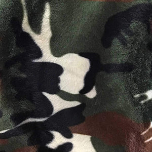 Velboa Faux Fake Fur Army Camouflage Fabric