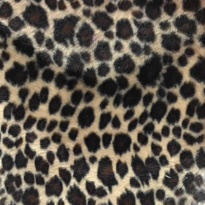 Baby Cheetah Beige Velboa Fur Cheetah Animal Short Pile Fabric