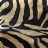 Zebra Brown Velboa Fur Zebra Animal Short Pile Fabric