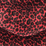 Baby Cheetah Red Velboa Fur Cheetah Animal Short Pile Fabric
