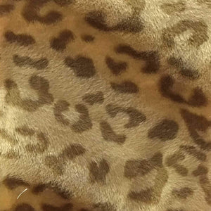 Baby Leopard Camel Velboa Fur Leopard Animal Short Pile Fabric