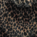 Baby Cheetah Chocolate Velboa Fur Cheetah Animal Short Pile Fabric