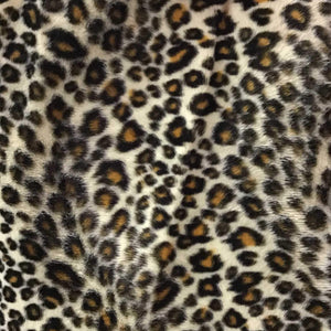 Baby Cheetah Yellow Velboa Fur Cheetah Animal Short Pile Fabric
