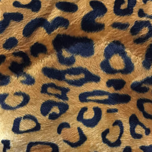 Leopard Gold Velboa Fur Leopard Animal Short Pile Fabric