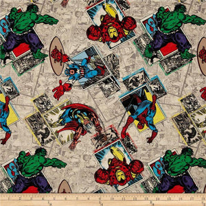 Marvel Avengers 100% Cotton Print Fabric