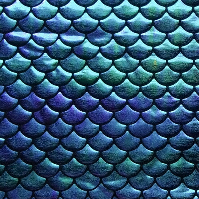 Blue Purple Gradient Mermaid Fish Scale