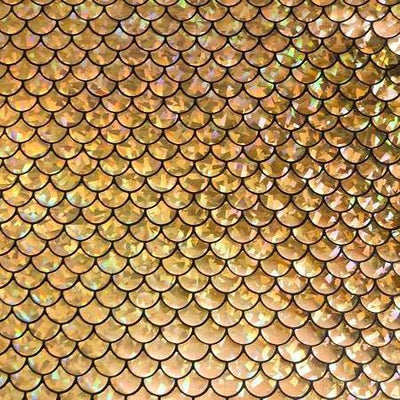 Gold Mermaid Fish Scale