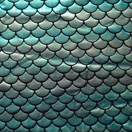 Green Blue Gradient Mermaid Fish Scale
