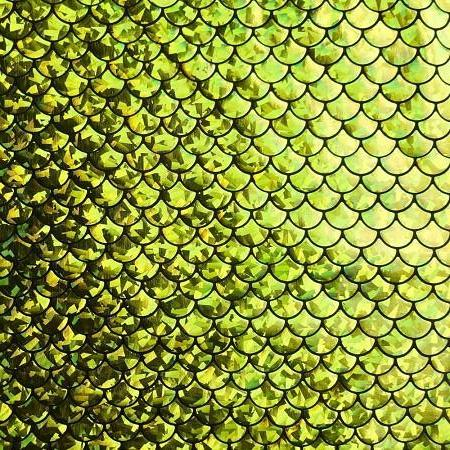Lime Mermaid Fish Scale