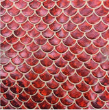 Red Large Mermaid Fish Scale